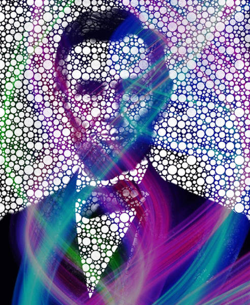 Wall Art - Painting - Abe Lincoln Bubble Modern Art by Robert R Splashy Art Abstract Paintings