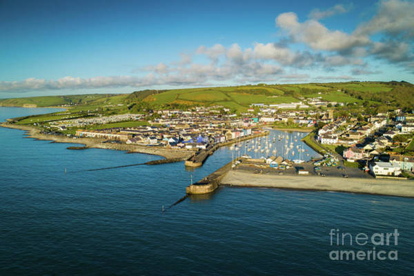 Photograph - Aberaeron , Ceredigion From The Air by Keith Morris