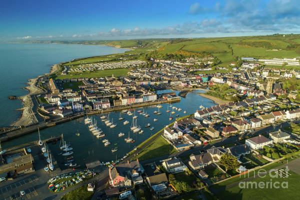 Photograph - Aberaeron, Ceredigion From The Air by Keith Morris