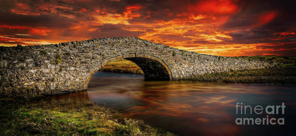 Wall Art - Photograph - Aberffraw Bridge Sunset by Adrian Evans