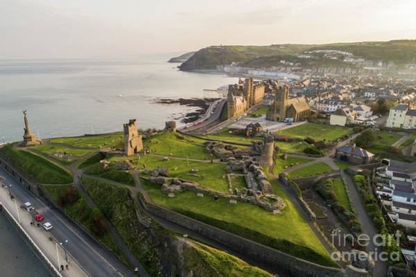Photograph - Aberystwyt Castle At Dawn by Keith Morris
