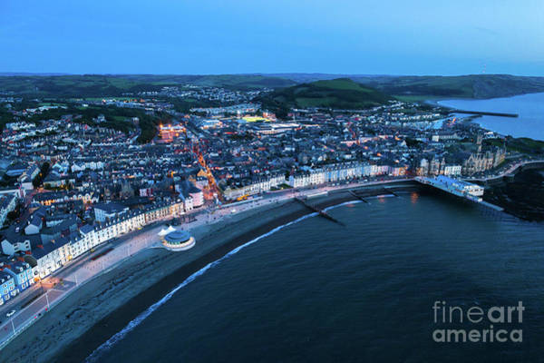 Photograph - Aberystwyth From The Air At Night by Keith Morris