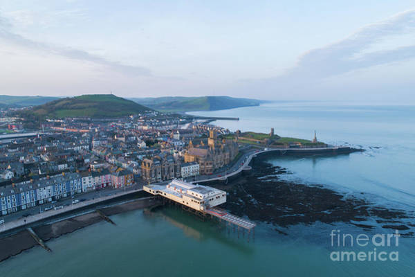 Photograph - Aberystwyth From The Air In The Morning by Keith Morris