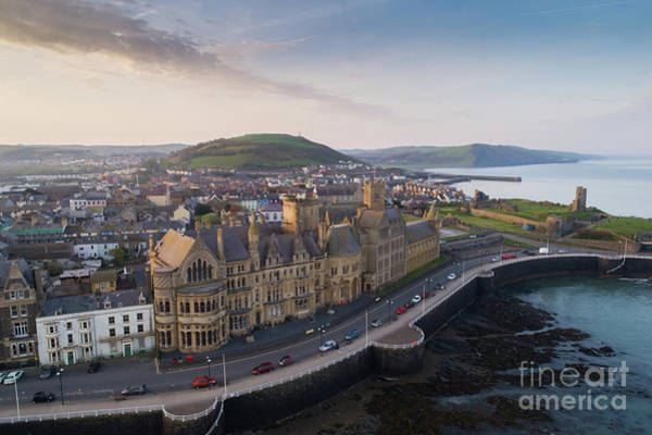 Photograph - Aberystwyth Old College At Dawn by Keith Morris