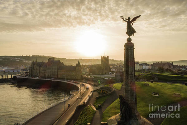 Photograph - Aberystwyth War Memorial At Dawn by Keith Morris