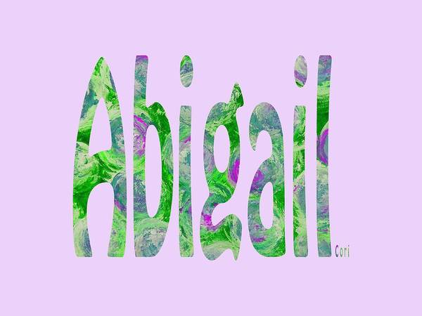 Digital Art - Abigail by Corinne Carroll