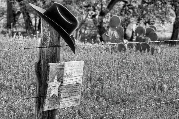 Photograph - Abilene Black And White by JC Findley