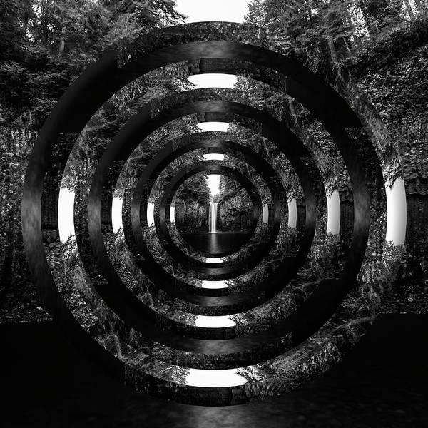 Wall Art - Photograph - Abiqua Falls Black And White Circles by Pelo Blanco Photo