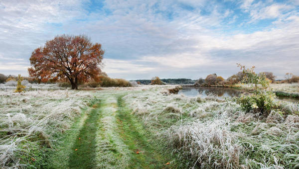 Photograph - About First Frost. Rural Road by Vlad Sokolovsky