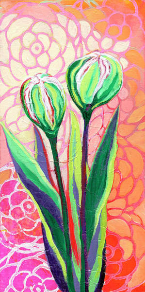 Peach Flower Wall Art - Painting - About To Bloom by Jennifer Lommers