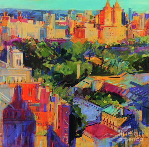 Wall Art - Painting - Above Central Park  by Peter Graham