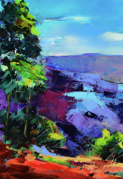 Painting - Blue Shades Over The Canyon by Elise Palmigiani