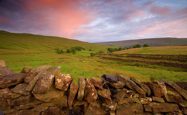 Above Kettlewell After Sunset Art Print by Pixelda Picture License