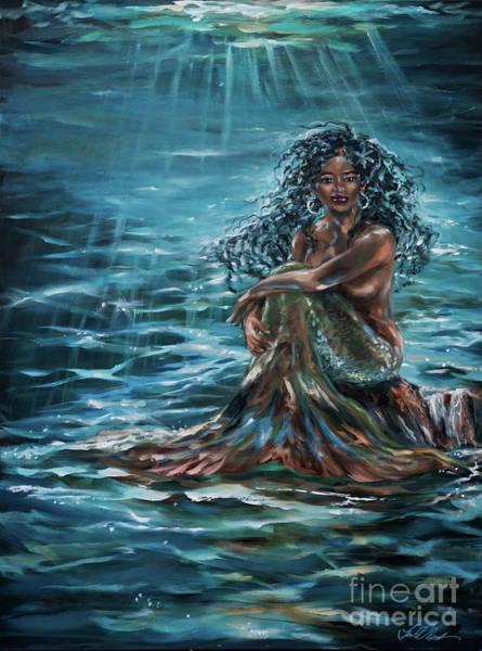 Painting - Above Or Below The Sea by Linda Olsen