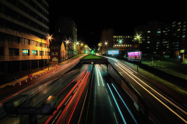 Photograph - Above Queensway Middleway No 1 by Chris Fletcher