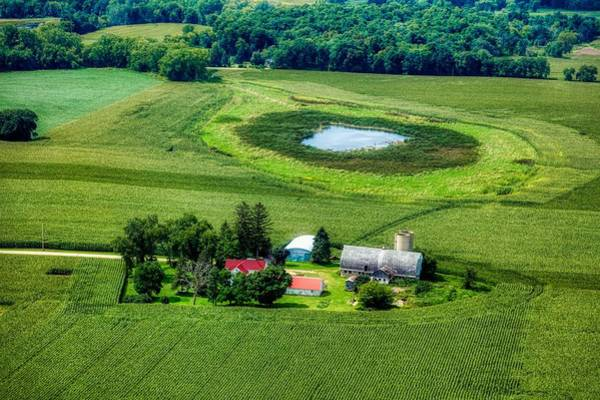 Wall Art - Photograph - Above Rural Wisconsin by Mountain Dreams