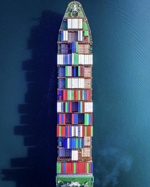 Pnw Wall Art - Photograph - Above The Cargo Ship by Clinton Ward