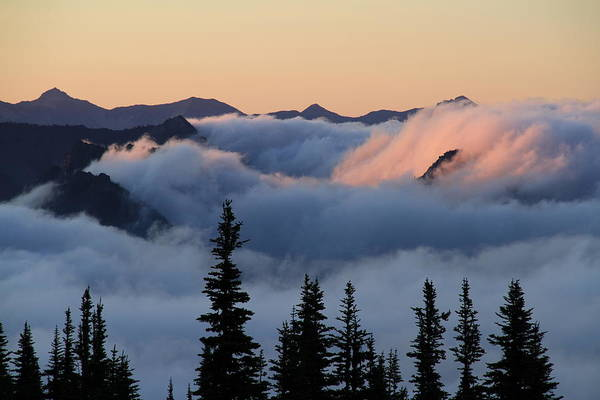 Photograph - Above The Clouds Sunrise by Ed  Riche