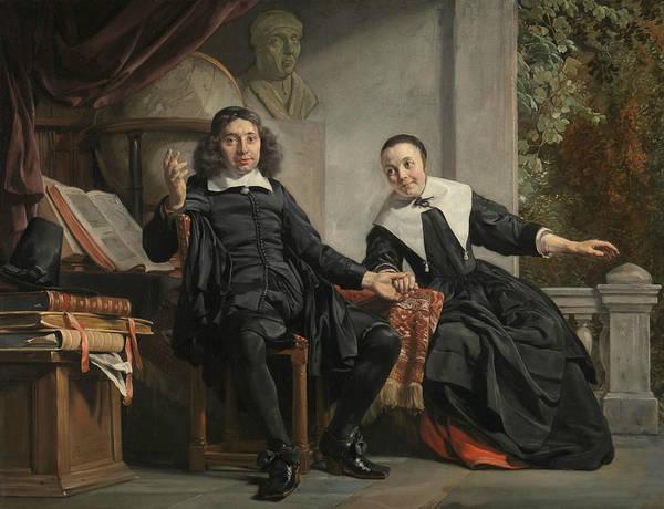 Painting - Abraham Casteleyn And His Wife Margarieta Van Bancken by Jan de Bray