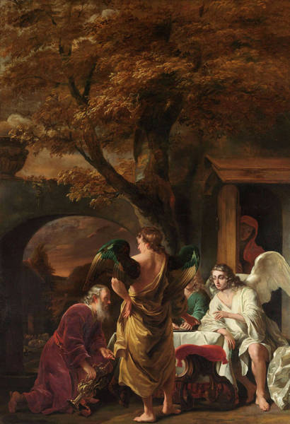 Believers Painting - Abraham Entertaining The Three Angels by Ferdinand Bol