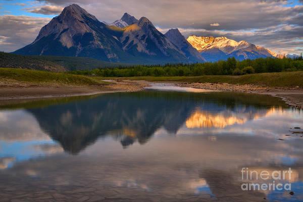 Photograph - Abraham Lake Reflections by Adam Jewell