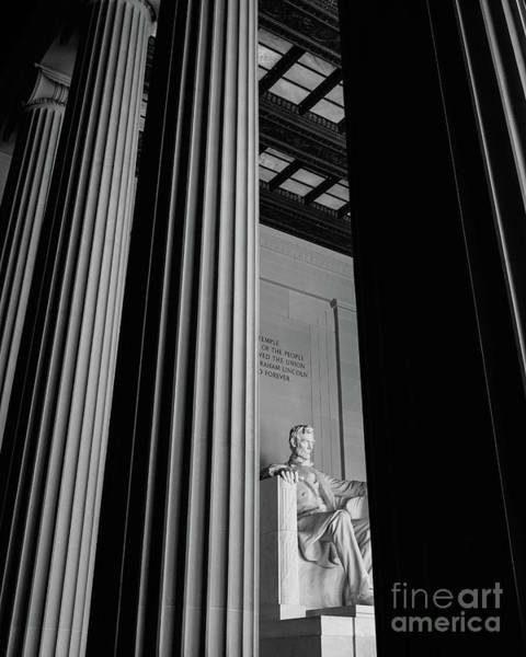 Photograph - Abraham Lincoln Memorial Washington Dc by Edward Fielding