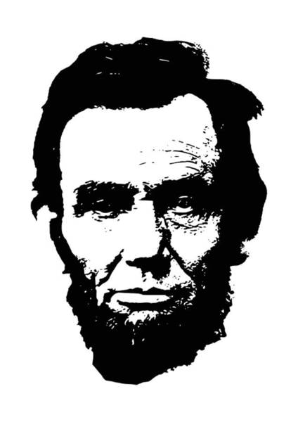 Lincoln Digital Art - Abraham Lincoln Minimalistic Pop Art by Filip Hellman