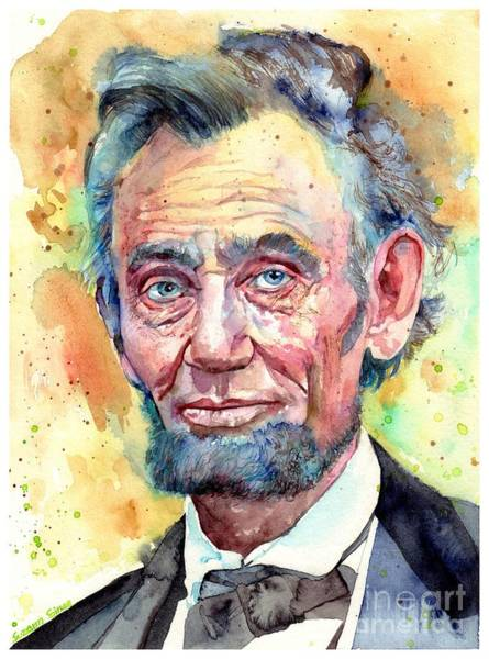 Wall Art - Painting - Abraham Lincoln Portrait by Suzann Sines