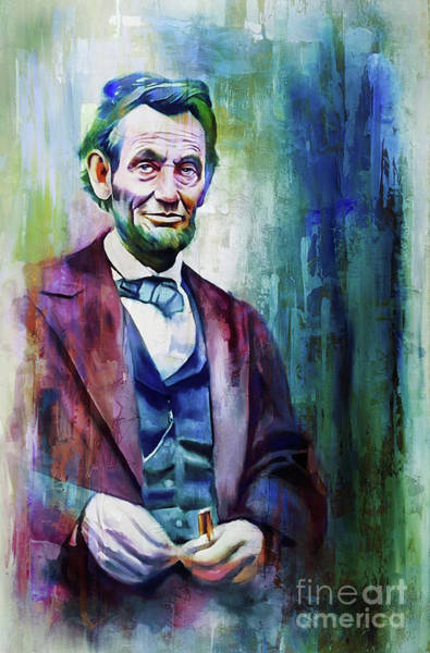 Wall Art - Painting - Abraham Lincoln The President 01 by Gull G
