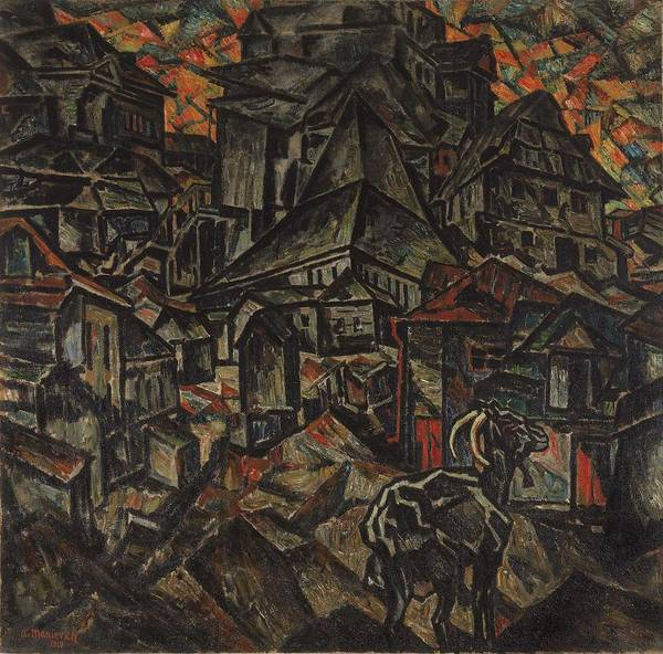 Wall Art - Painting - Abraham Manievich, Destruction Of The Ghetto, Kiev by Celestial Images