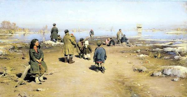 Wall Art - Painting - Abram Arkhipov - Ice Has Passed by Celestial Images