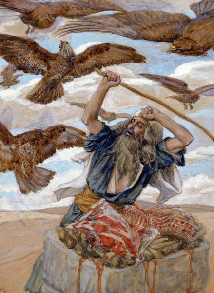 Believers Painting - Abram Guarding His Sacrifice, 1902 by James Tissot