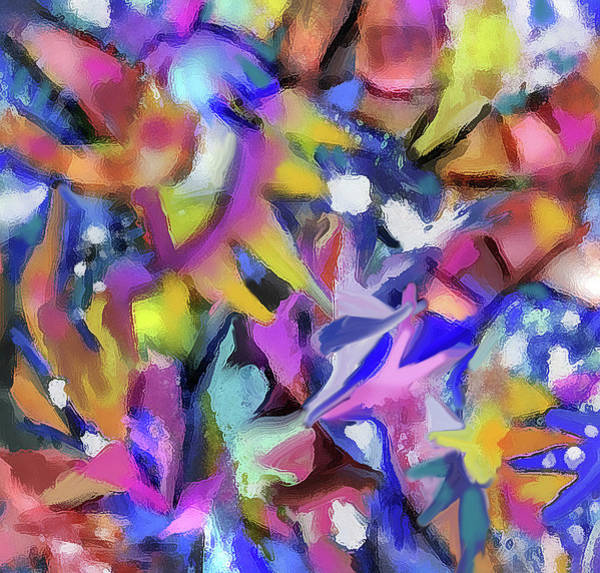 Digital Art - Abstract 422 - Detail by Jean Batzell Fitzgerald