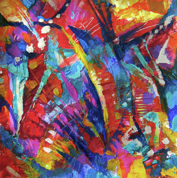 Painting - Abstract 61719 by Jean Batzell Fitzgerald