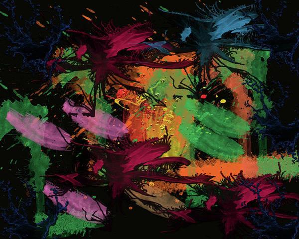 Digital Art - Abstract Action Series 01 by Carlos Diaz