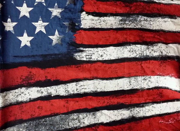 Photograph - Abstract American Flag by Rob Hans