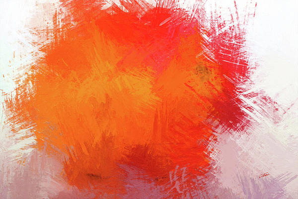 Painting - Abstract In Orange 1 - Dwp215490 by Dean Wittle