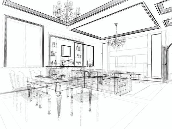 Villa Photograph - Abstract Architecture Modern  Villa by Hh5800