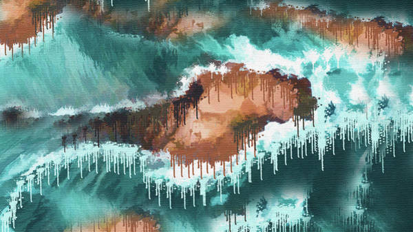Wall Art - Painting -  Island Abstract  by Art Spectrum