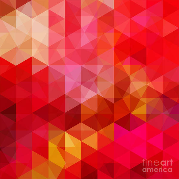 Wall Art - Digital Art - Abstract Background Consisting Of Red by Tashechka