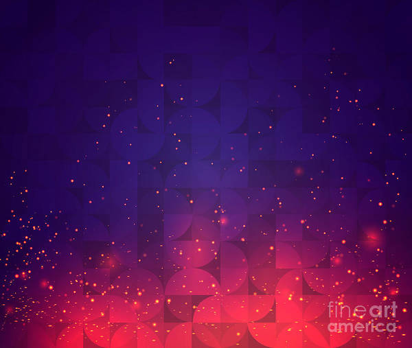 Block Digital Art - Abstract Background For Design. Vector by Skillup