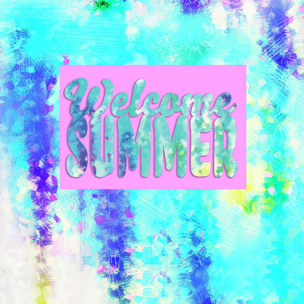 Mixed Media - Welcome Summer Desert Print by Marianne Campolongo