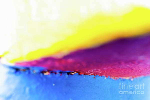 Photograph - Abstract Background Of Variable Geometry And Intense Yellow And  by Joaquin Corbalan