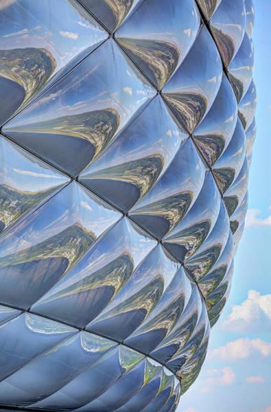 Wall Art - Photograph - Abstract Bayern Munich Stadium by David Pyatt