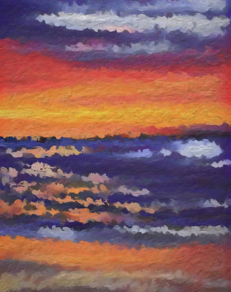 Painting - Abstract Beach Sunset by Dan Sproul