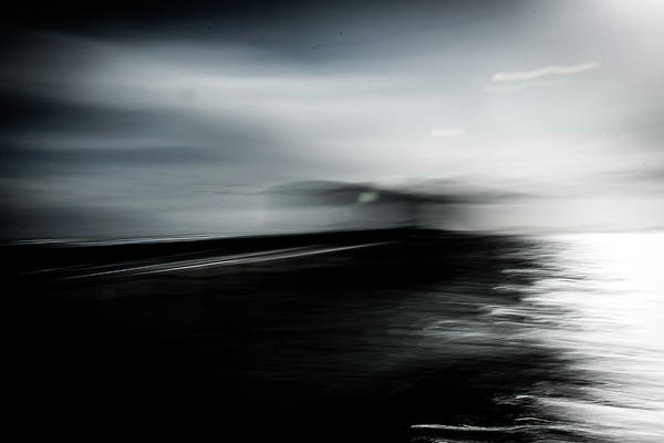 Wall Art - Photograph - Abstract Black And White Seascape  by David Ridley