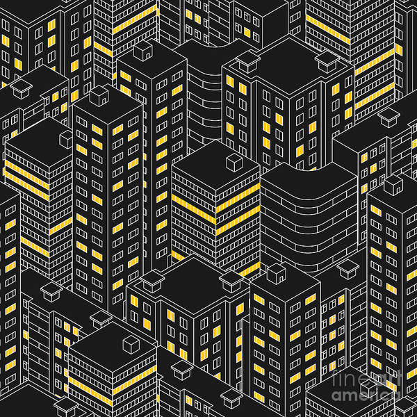 Office Digital Art - Abstract Black Seamless Pattern by Svetlana Avv