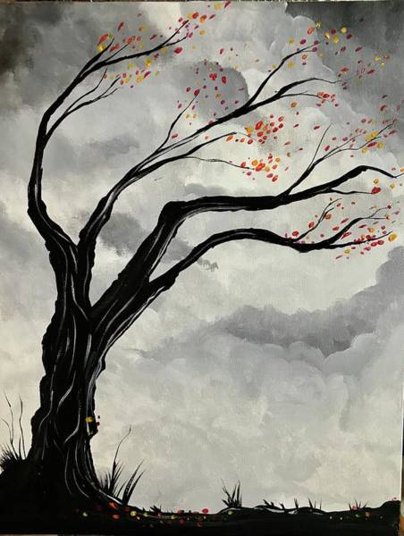 Wall Art - Painting - Abstract Black Tree by Willy Proctor