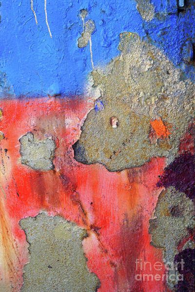 Wall Art - Photograph - Abstract Blue And Rust Background K1 by Vladi Alon