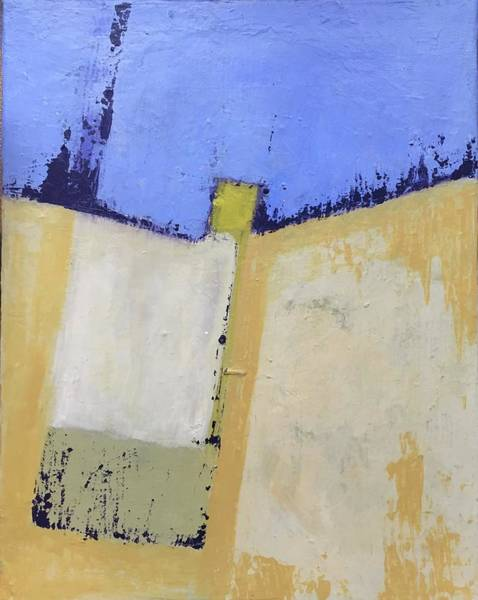 Painting - Abstract Blue And Yellow by Cherylene Henderson